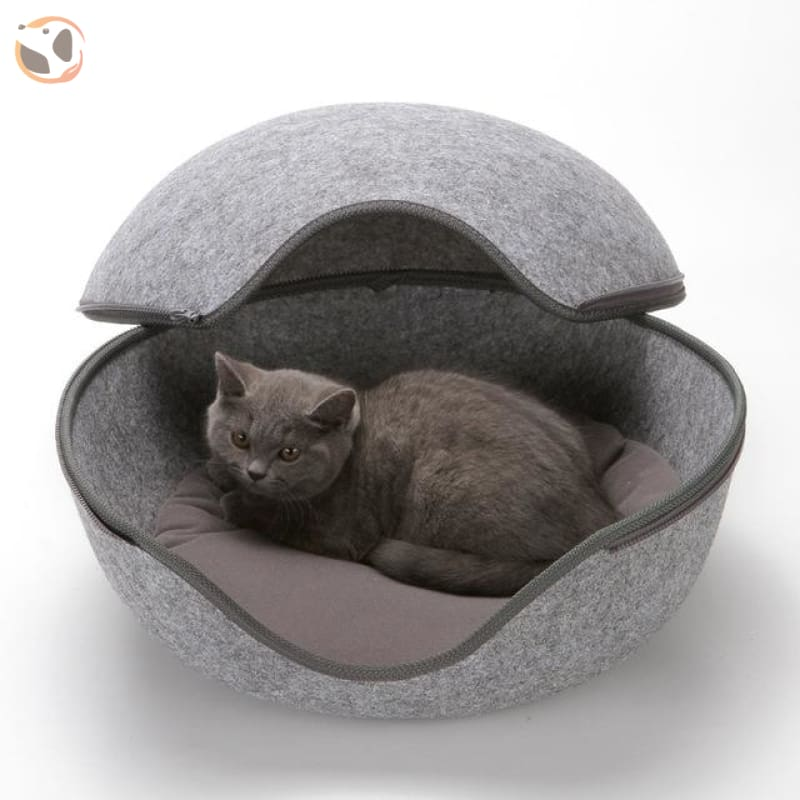 Egg Shape Sleeping Beds for Cats - Grey / L