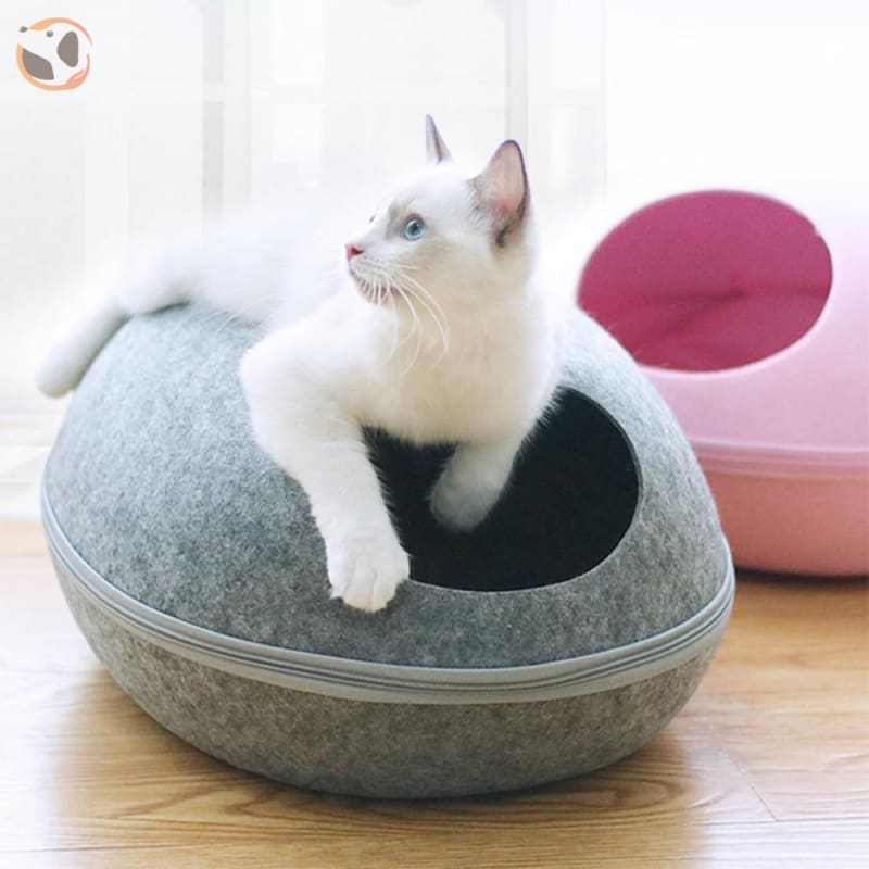 Egg Shaped Cat House with Zipper