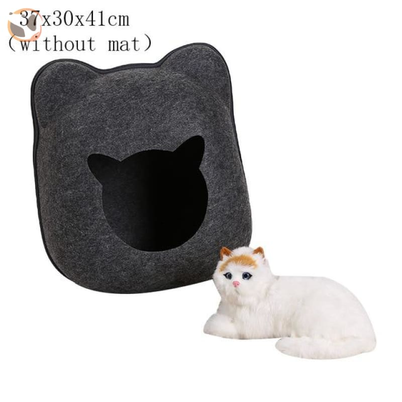Egg Shaped Cat House with Zipper - black 2