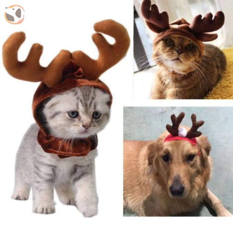 Elk Reindeer Headwear for Cats & Dogs