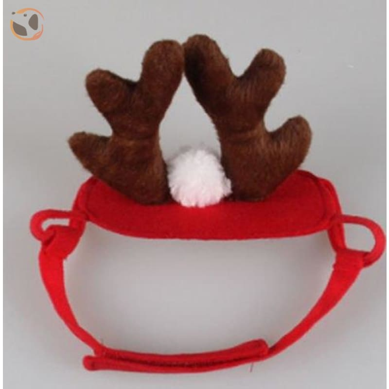 Elk Reindeer Headwear for Cats & Dogs - Red / one size
