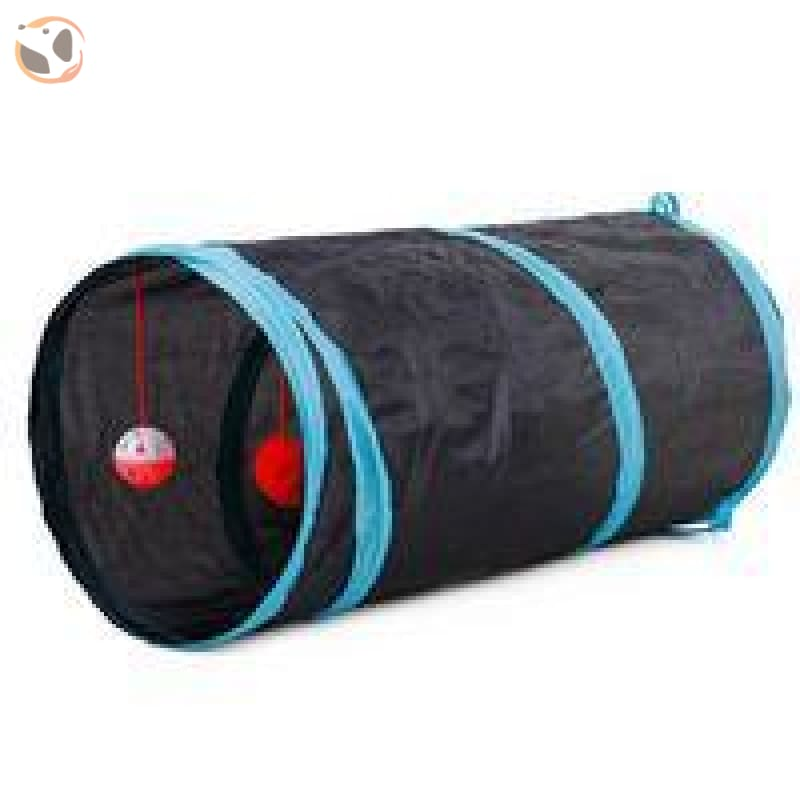 Foldable Pet Tunnel with Holes - Black