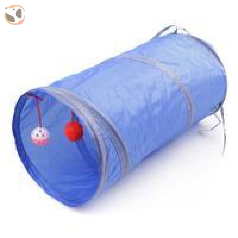 Foldable Pet Tunnel with Holes - Blue