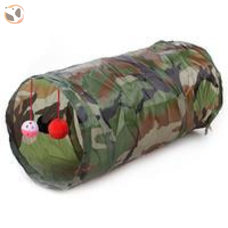 Foldable Pet Tunnel with Holes - camouflage
