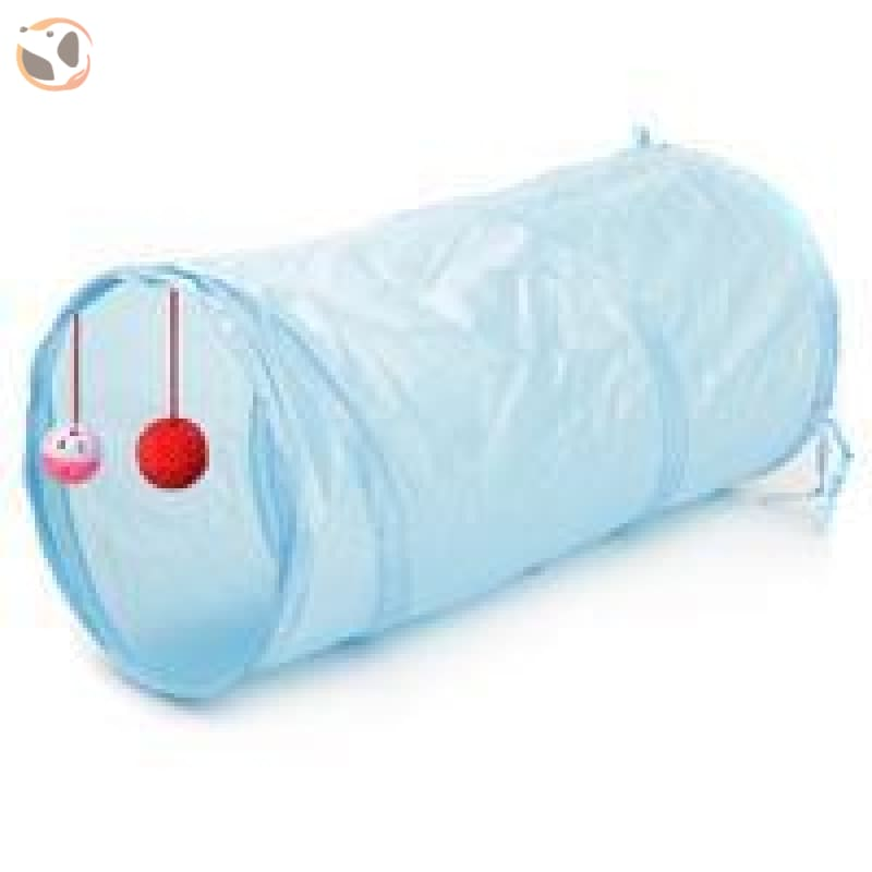 Foldable Pet Tunnel with Holes - Light Blue