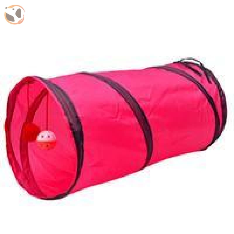 Foldable Pet Tunnel with Holes - Pink