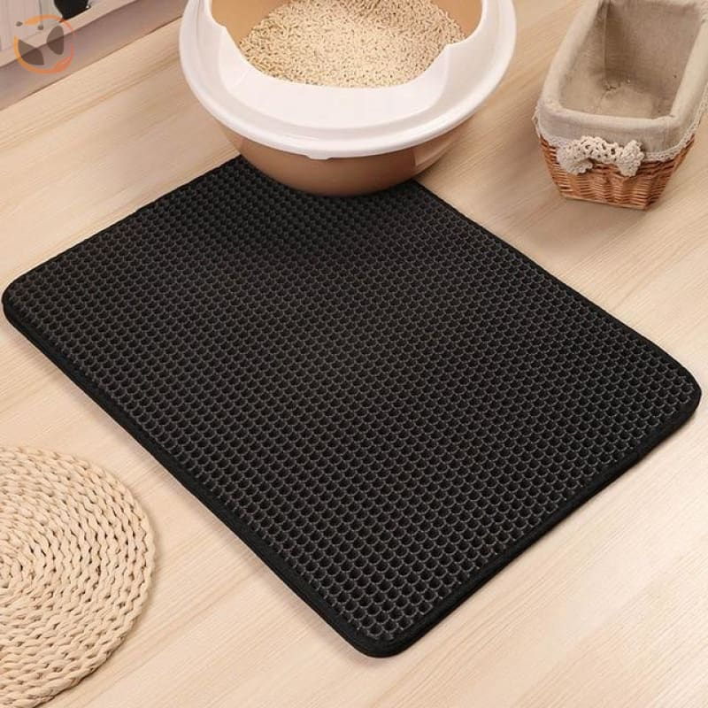 Foldable Waterproof Litter Catcher Mat - Black / S