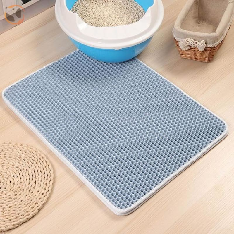 Foldable Waterproof Litter Catcher Mat - Blue / S