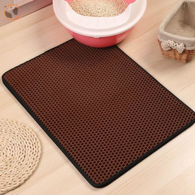 Foldable Waterproof Litter Catcher Mat - Brown / S