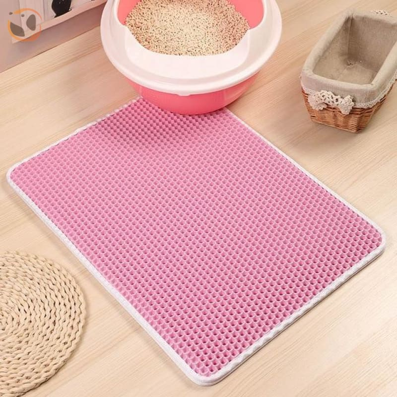 Foldable Waterproof Litter Catcher Mat - Pink / S
