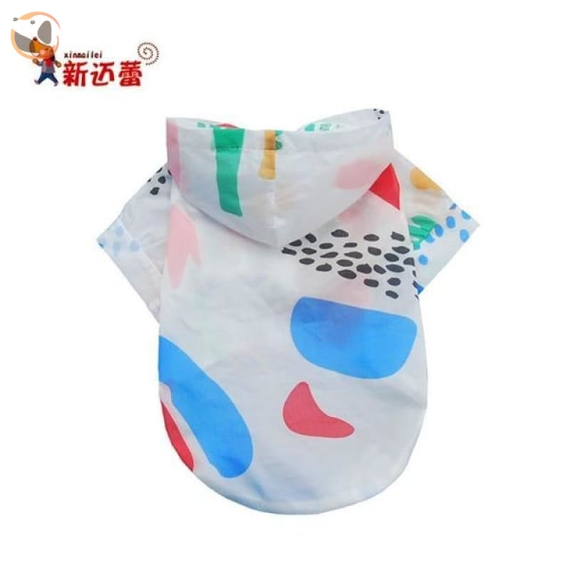 Fruit Patterned Dog Coats with Sunlight Protection - Blue / L