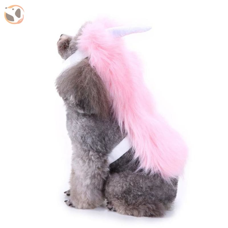 Funny Dog Costumes For Halloween - Pink Fur / L