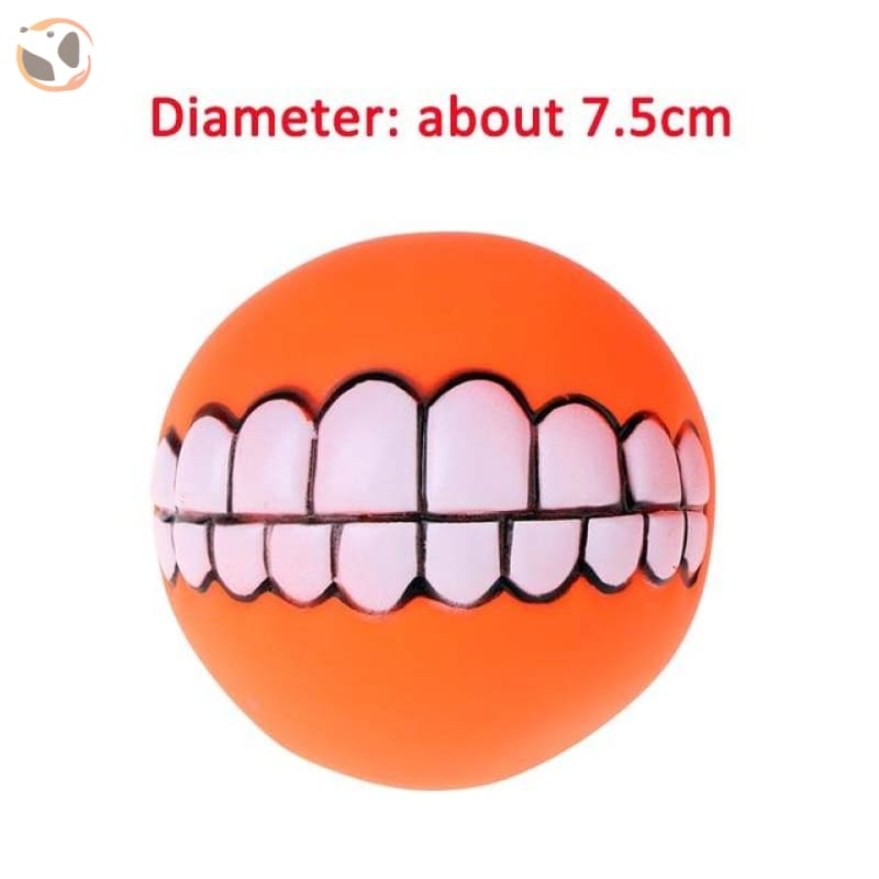 Funny Dog Squeaky Toys - Orange Tooth