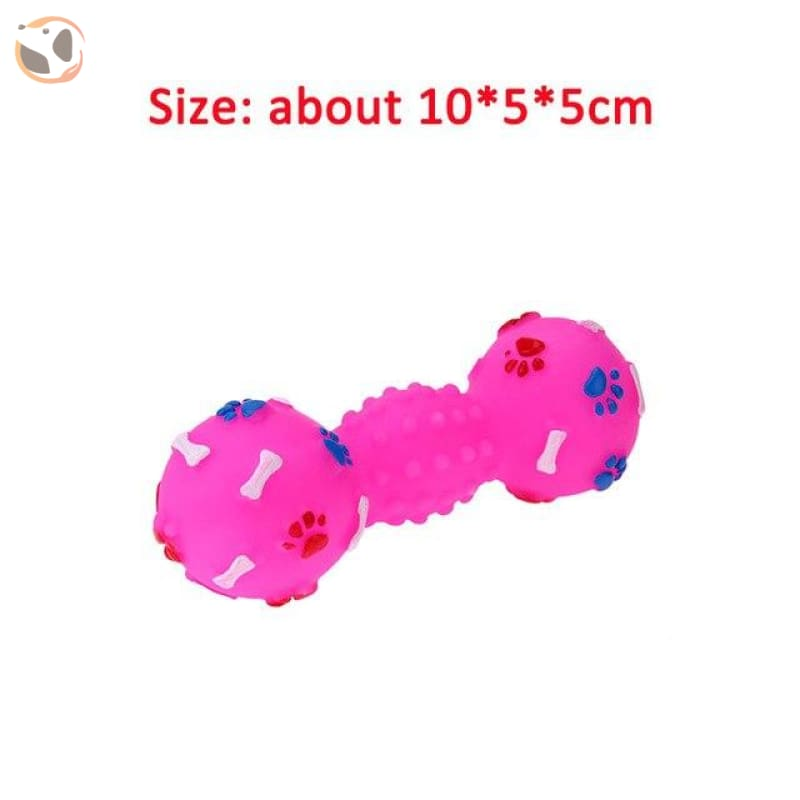 Funny Dog Squeaky Toys - Pink Bone