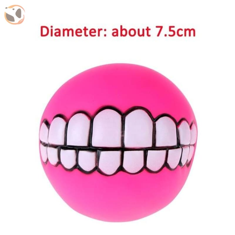 Funny Dog Squeaky Toys - Pink Tooth