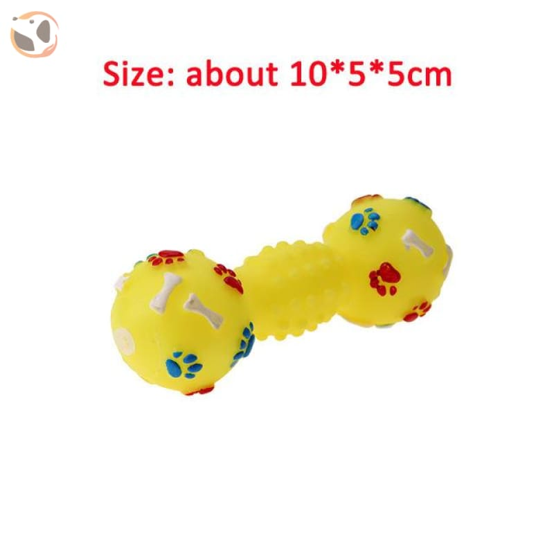Funny Dog Squeaky Toys - Yellow Bone