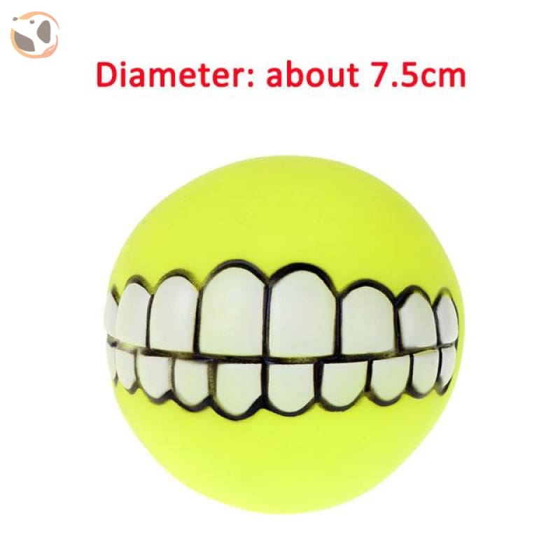 Funny Dog Squeaky Toys - Yellow Tooth
