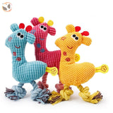 Giraffe-Shape Chewable Squaeky Dog Toy