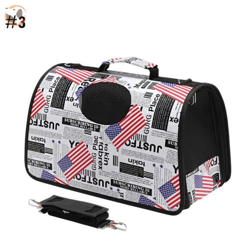 High quality Cat Carrier Backpack - USA Flag / S