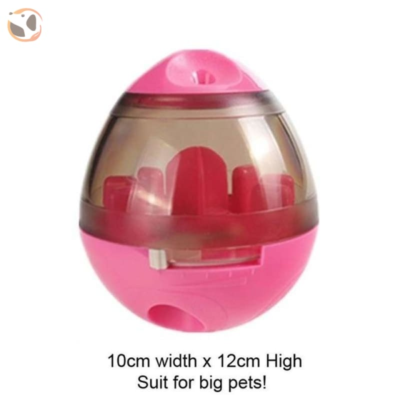 Interactive Dog Training Food Dispenser Ball - Pink