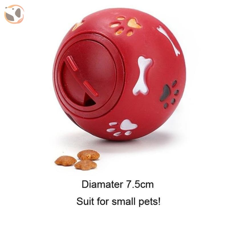 Interactive Dog Training Food Dispenser Ball - Red