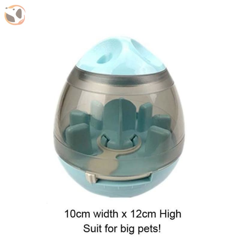 Interactive Dog Training Food Dispenser Ball - Turquoise