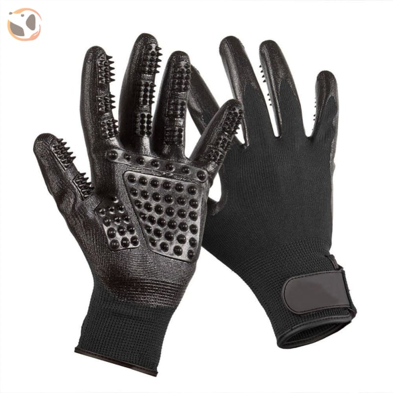 Pet Grooming Gloves - Black