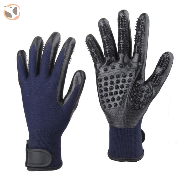 Pet Grooming Gloves - Blue