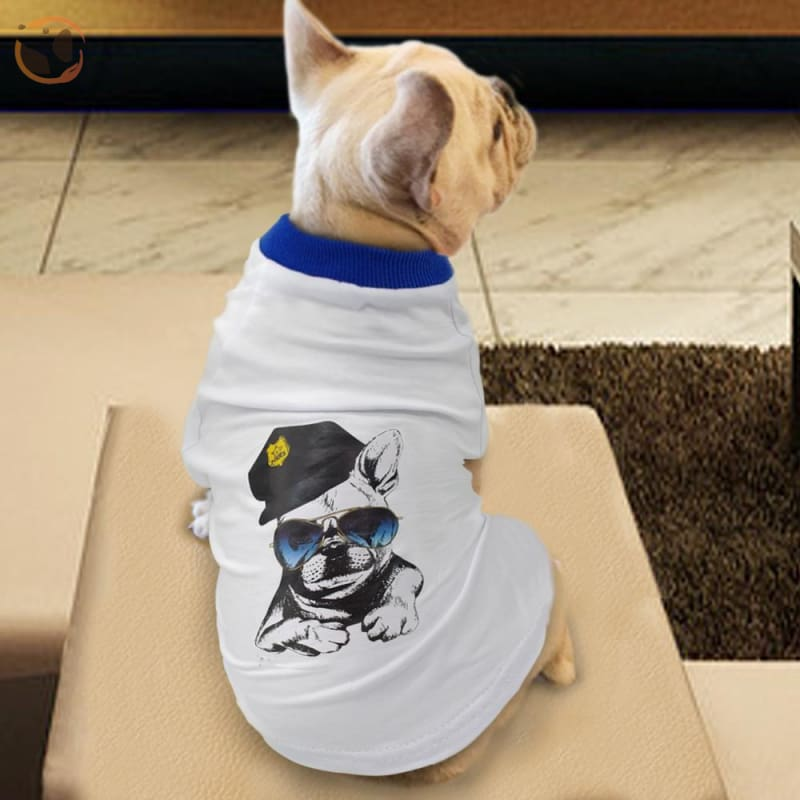 Pitbull Printed Dog T Shirt For Small/medium Dogs - White / L