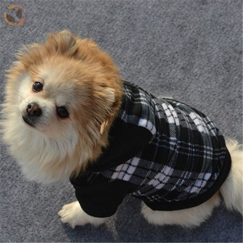 Plaid Cotton Sweaters For Dogs