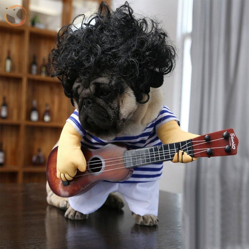 Playing Guitar Halloween Costume for Dogs
