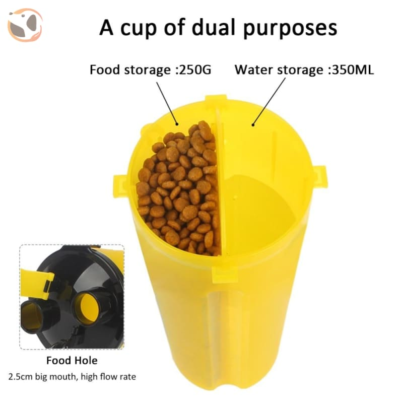 Portable Water&food Dog Bottle With Bowl