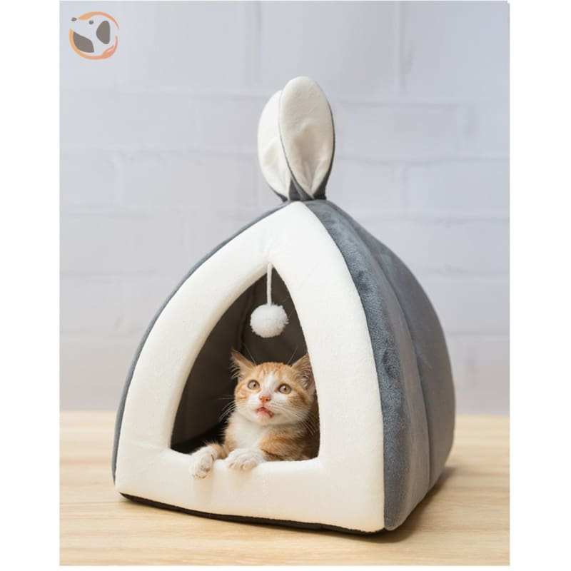 Rabbit Ears Collapsible Cat Cave