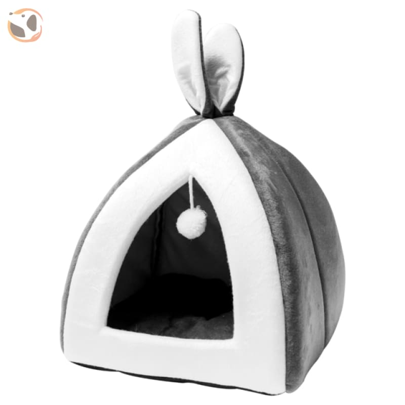 Rabbit Ears Collapsible Cat Cave - Light Grey / L