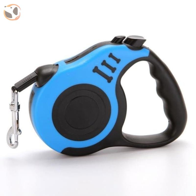 Retractable Dog Leash for Small and Medium Dogs - Blue / 3 Meters