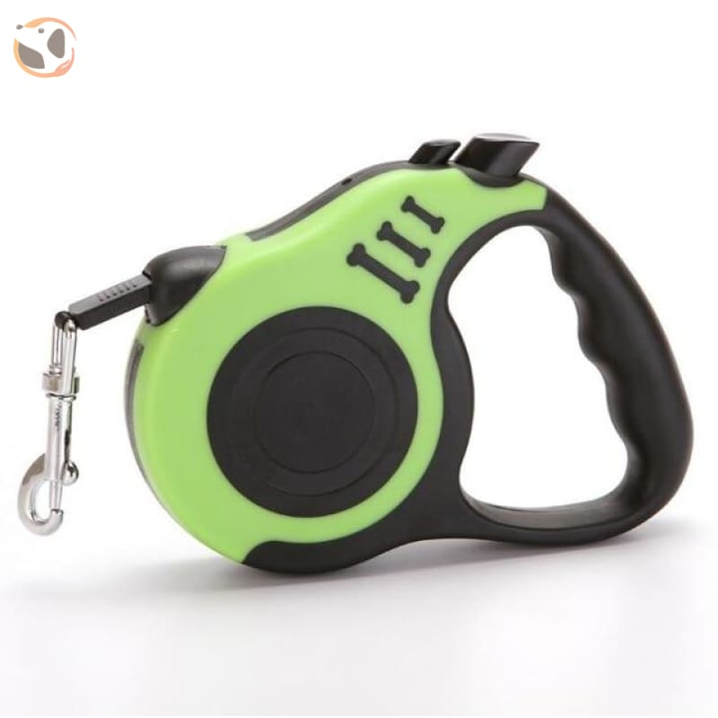Retractable Dog Leash for Small and Medium Dogs - Green / 3 Meters