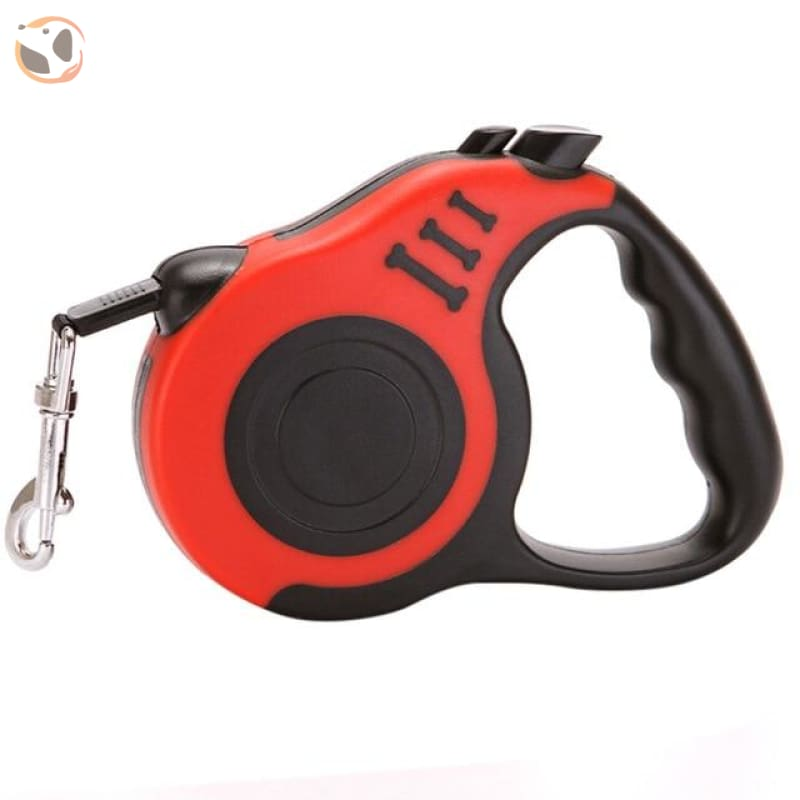 Retractable Dog Leash for Small and Medium Dogs - Red / 3 Meters