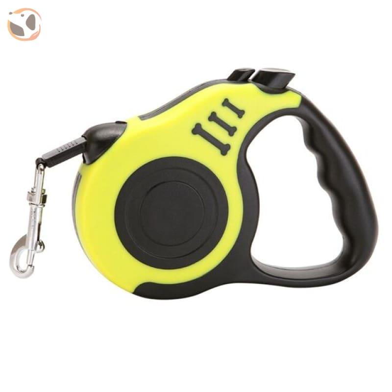 Retractable Dog Leash for Small and Medium Dogs - YELLOW / 3 Meters