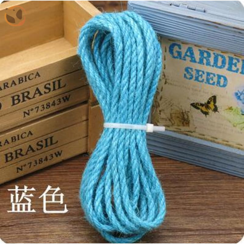 Rope for Cat Climbing Tree - Cyan Rope / 5mm 5meter