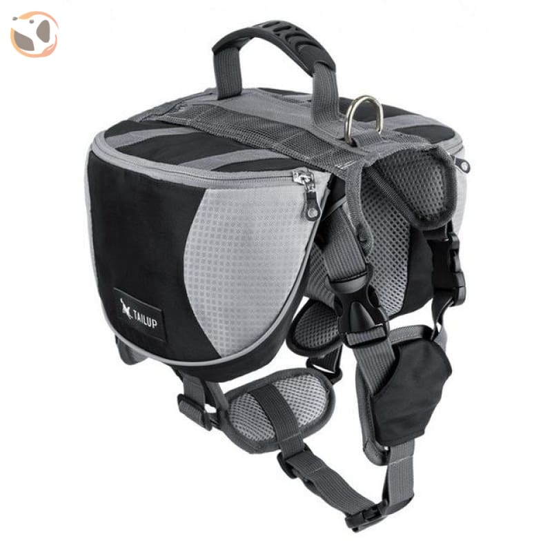 Saddle Dog Backpacks For Large Dogs - Grey / S