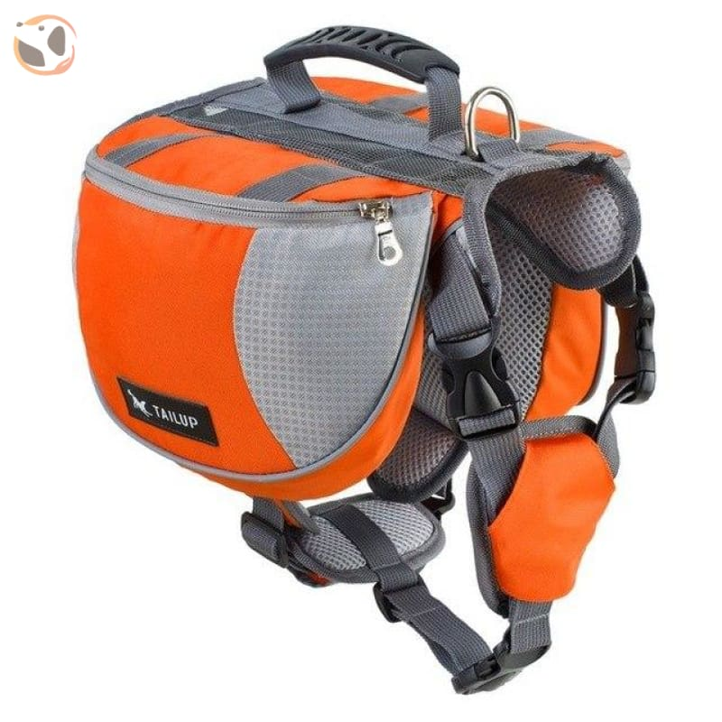 Saddle Dog Backpacks For Large Dogs - Orange / S