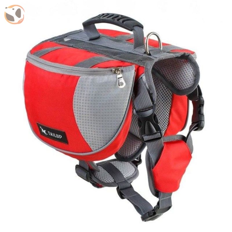 Saddle Dog Backpacks For Large Dogs - Red / S