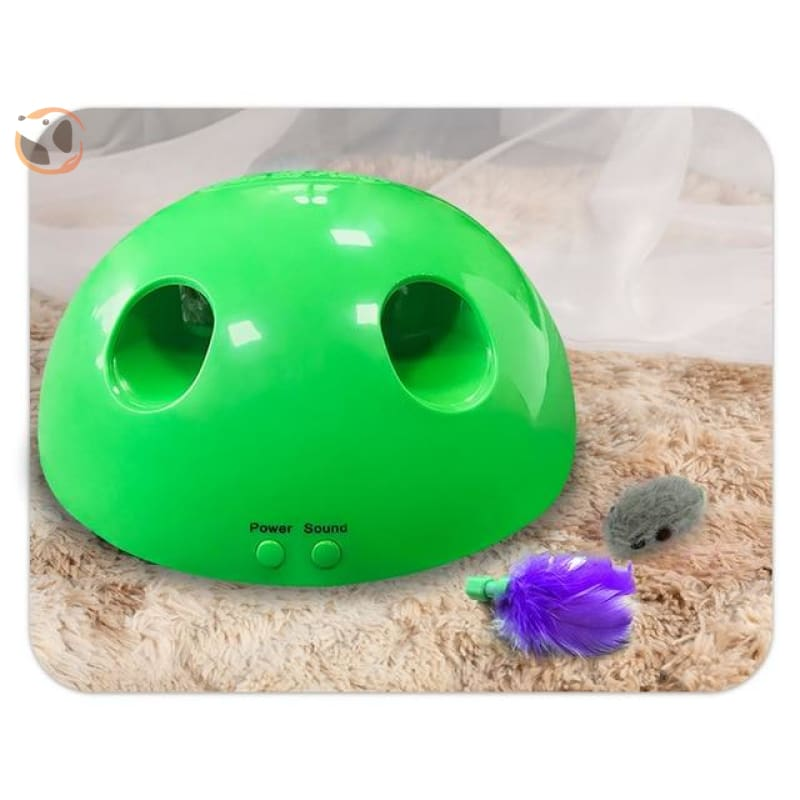 Scratching Toy for Cats - Green no box / feather