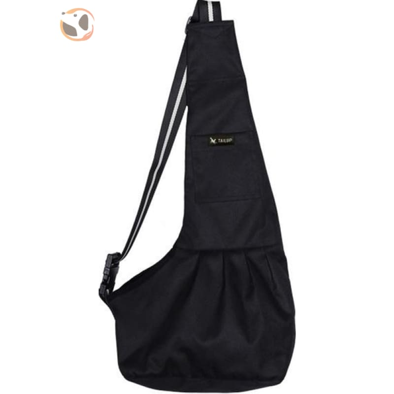 Single Shoulder Small Dog Carrier Bag - Black / S