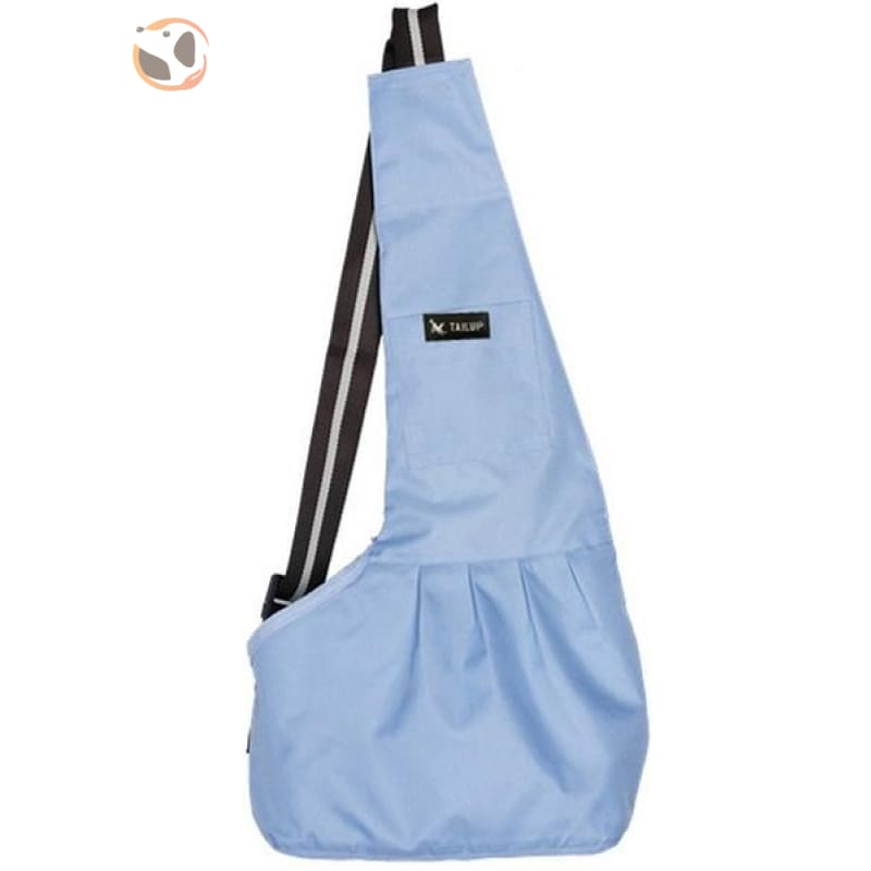 Single Shoulder Small Dog Carrier Bag - Blue / L