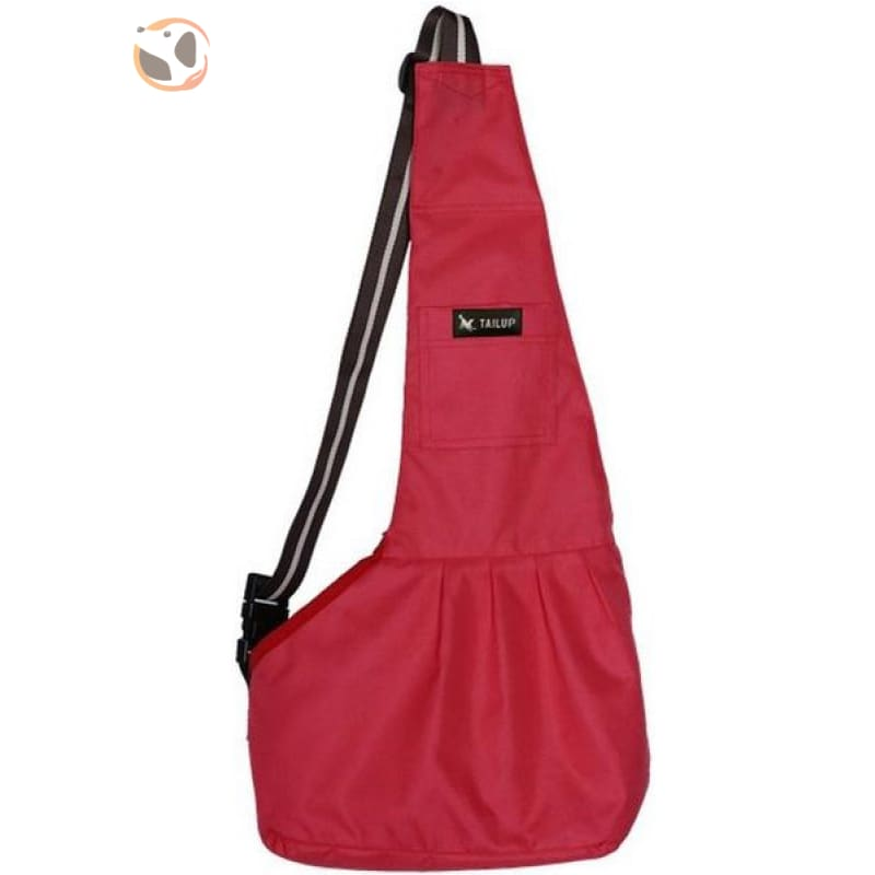 Single Shoulder Small Dog Carrier Bag - Red / L
