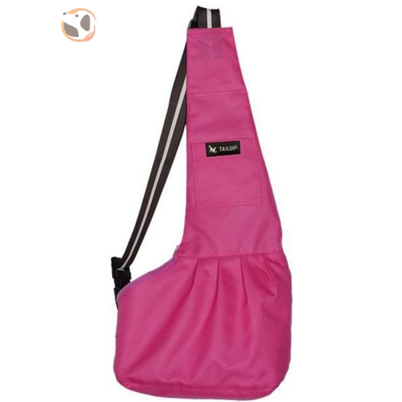 Single Shoulder Small Dog Carrier Bag - Rose / L