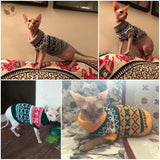 Snowflake Pattern Sweater for Cats