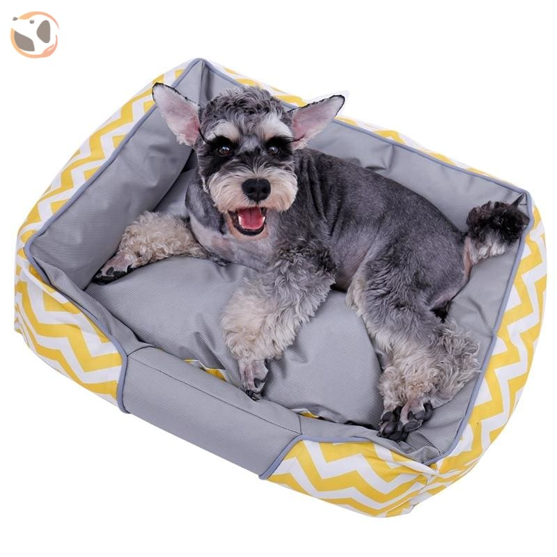 Soft Cooling Dog Bed For Summer - Yellow / L