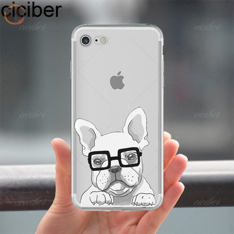 Soft Silicon Dog Printed Phone Cases For Iphone